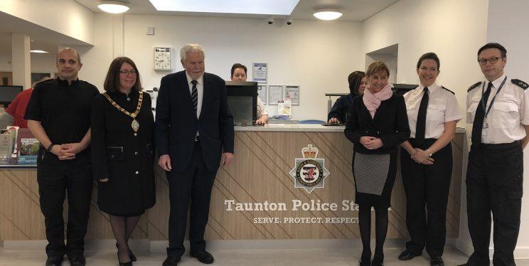 Taunton police station front desk