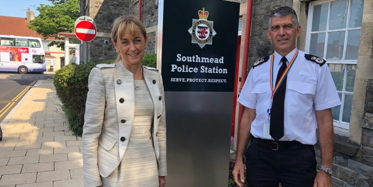 PCC Sue Mountstevens and Chief Constable Andy Marsh
