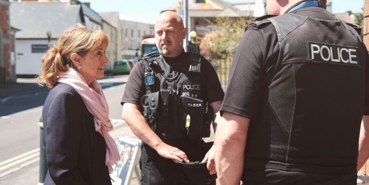PCC Sue Mountstevens and Police Officers