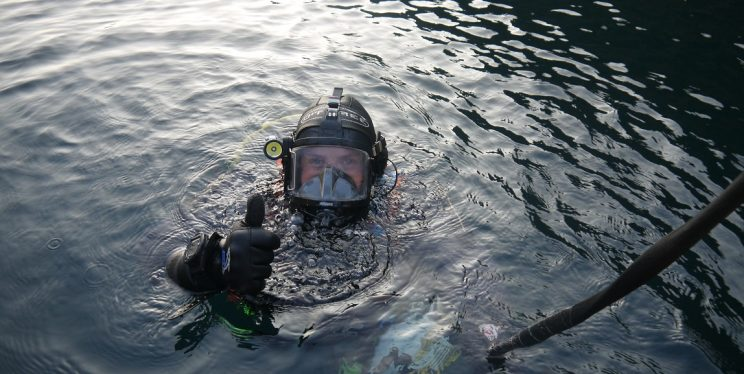 Diver in the Underwater Search Team
