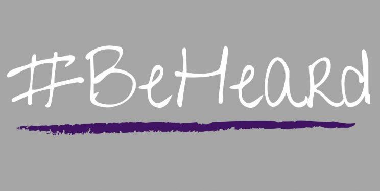 #BeHeard logo
