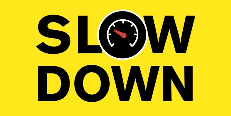 Slow down infographic