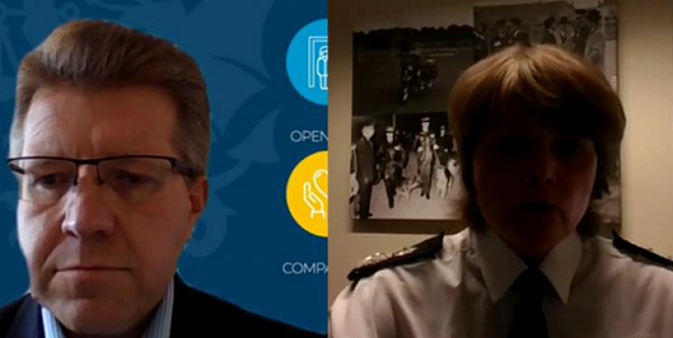 Deputy PCC John Smith and Deputy CC Sarah Crew