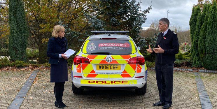 PCC, Chief Constable, Coronavirus branded police car
