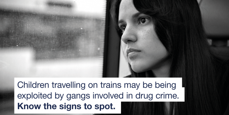 Vulnerable young girl on train.